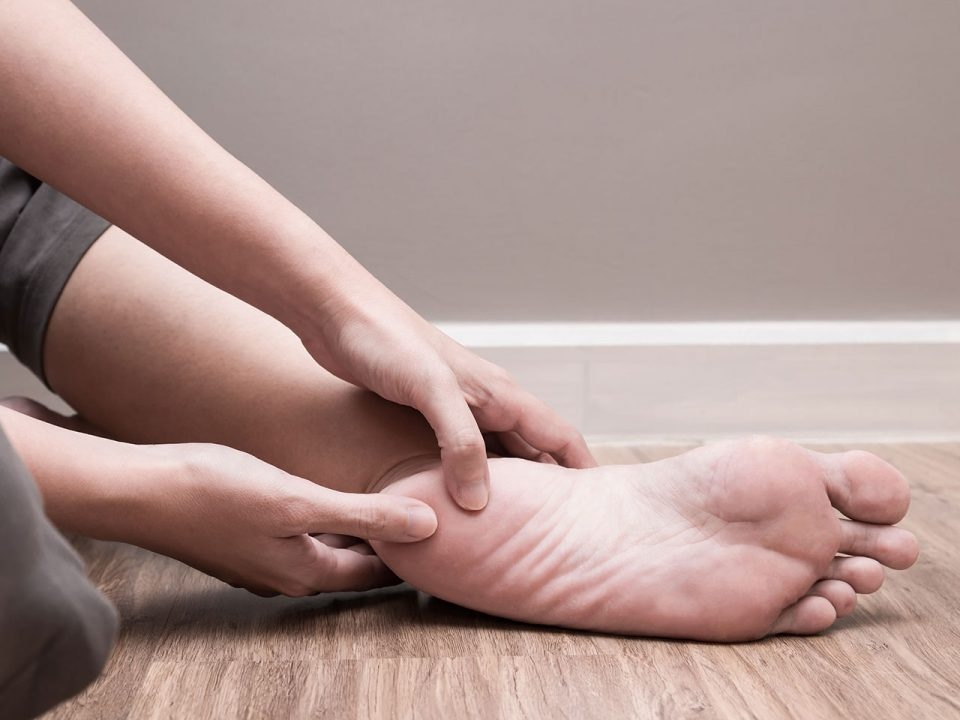 An image of a patient suffering from plantar fasciitis - Moreno Osteopathy, you're in good hands